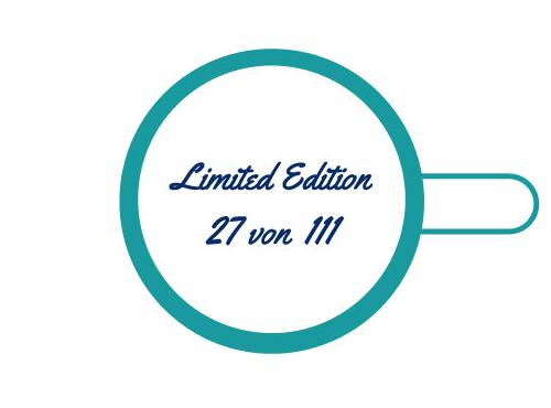 Tassendruck Einzeldruck Limitierung, Nummerrierung