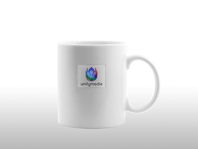 Kostengünstig, Billig, Preiswert, Werbetasse Werbeartikel Becher Tasse Porzellan Kaffeetasse Kaffeebecher mit Logo