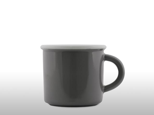 Emaille Porzellan Tasse Grau